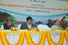 (From Left to Right)-Dr. A.D.Pathak, Director ICAR-IISR, Lucknow; Shri Shekhar Gaikwad, IAS, Commissioner of Sugar, Govt of Maharashtra and Shri Dilip Walse Patil, President, NFCSF